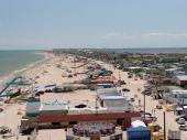 Пляж на Федотовой косе с колеса обозрения